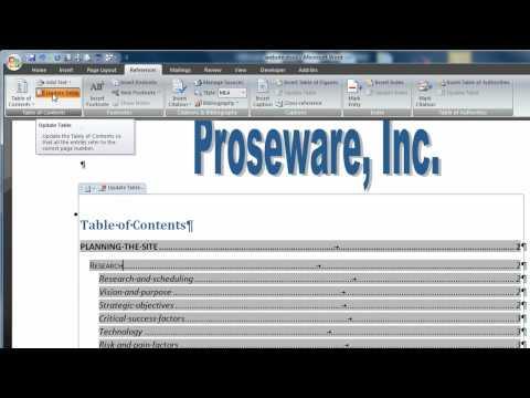 Word 2007 Ders 13 Bir İçindekiler Tablosu Ve Dizin Oluşturma.