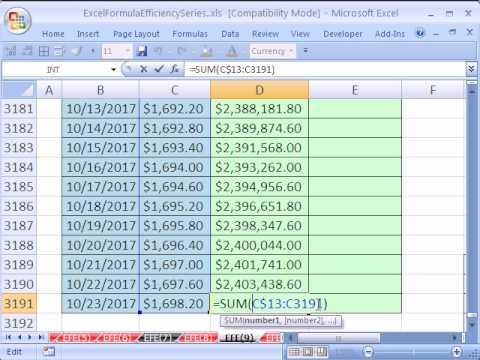 Excel Formül Verimliliği 9: Daha Hızlı Çalışan Toplam Formülü