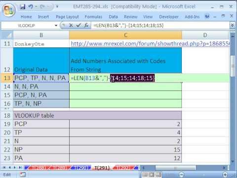Excel Sihir Numarası 291: İlişkili Adedi Eklemek W Dizeden Kodları