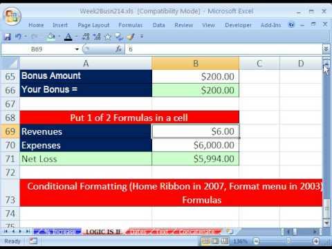 Highline Excel Sınıf 11: Mantıksal Formülleri, Is Ve Eğer İşlevleri