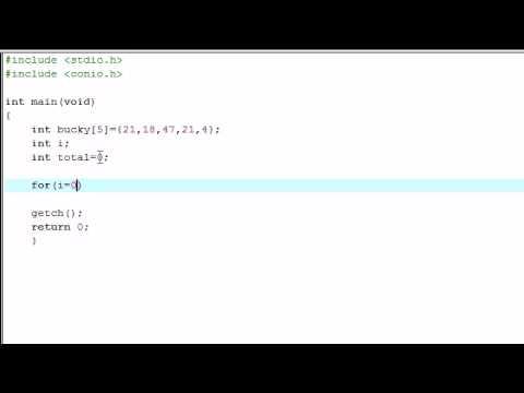 C Programlama Eğitimi - 15 - Basit Dizi Program