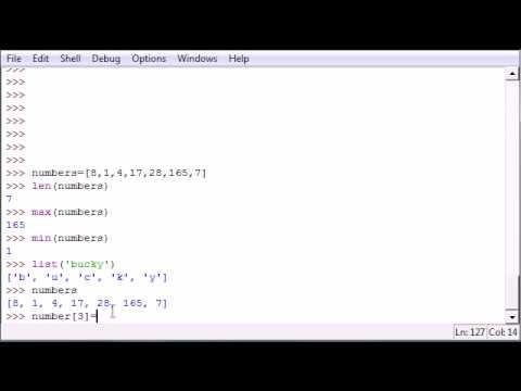 Öğretici - 12 - Daha Programlama Python İşlevleri Listesi