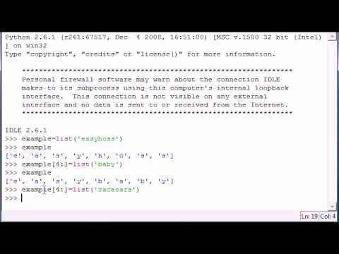 Öğretici - 13 - Dilimleme Programlama Python Listeler