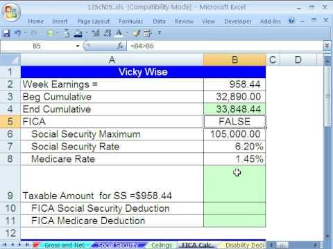 Excel Busn Matematik 41: Bordro İndirimleri Tavanlı (Fıca)