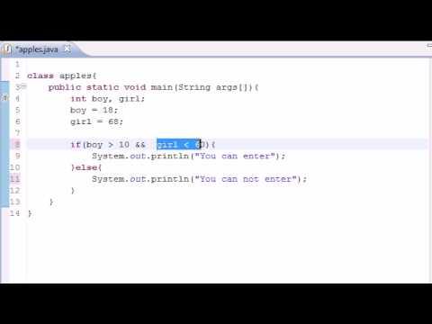 Java Programlama Eğitimi - 11 - Mantıksal İşleçler