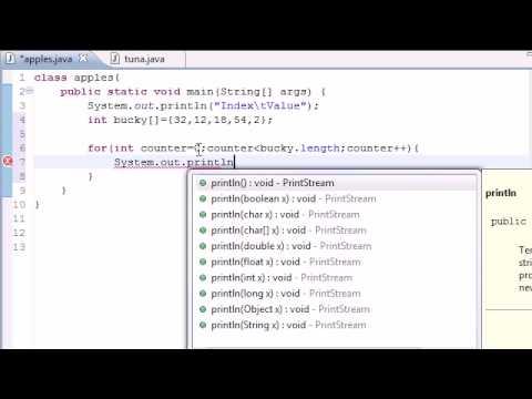 Java Programlama Eğitimi - 28 - Bir Dizi Tablo Oluşturma