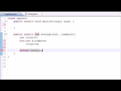 Java Programlama Eğitimi - 35 - Değişken Uzunluktaki Argümanlar