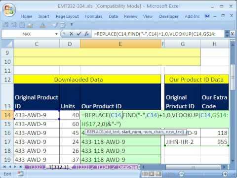 Excel Büyü Hüner 332: Ekle Metnini Değiştir İşlevi İle