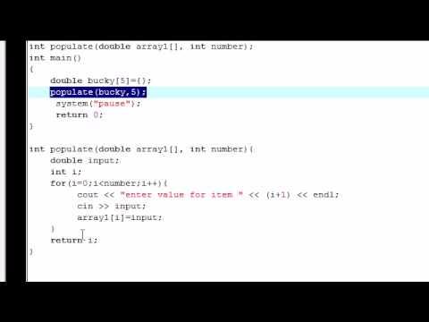 C++ İşlevleri İçeren Bir Dizi Doldurma Öğretici - 26-