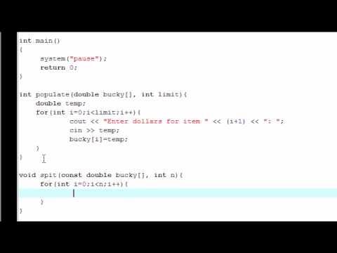 C++ Eğitimi - 27 - Koruma Dizilerle Const