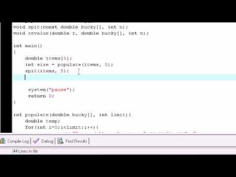 C++ Dizi Değerleri İşlevleri İle Değişen Öğretici - 28-