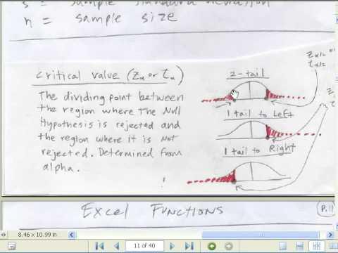 Excel İstatistik 89: Kritik Değer Ve P-Değeri Hipotez Testleri