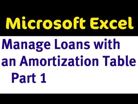 Krediler Bir Amortisman Tablo Excel - Bölüm 1 İle Yönetme
