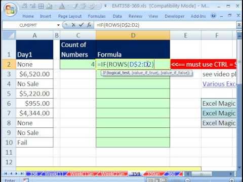 Excel Sihir Numarası 359: Bölüm 2: Bir Arama Değeri Sütun W İçin Birden Çok Öğe Döndüren Formülü