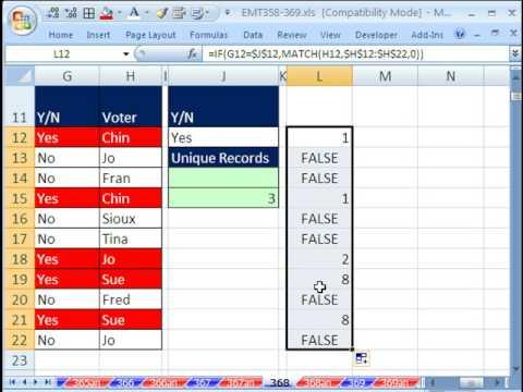 Excel Sihir Numarası 368: Count Benzersiz Öğeleri İle Birden Fazla Ölçüt