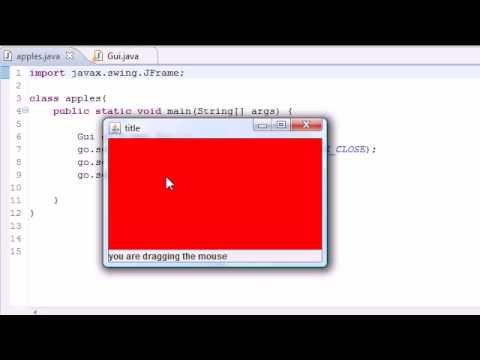 Java Programlama Eğitimi - 76 - Mousemotionlistener Arabirimi