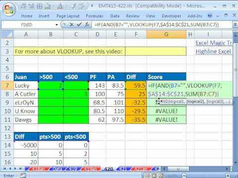 Excel Büyü Hüner 420: Düşeyara W Topla İşlevini 3 Bağımsız (Futbol Bahis Tablosu)