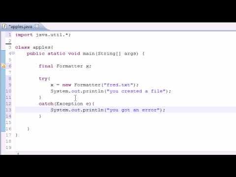 Java Programlama Eğitimi - 79 - Oluşturma Dosyaları