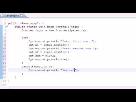 Java Programlama Eğitimi - 82 - Özel Durum İşleme