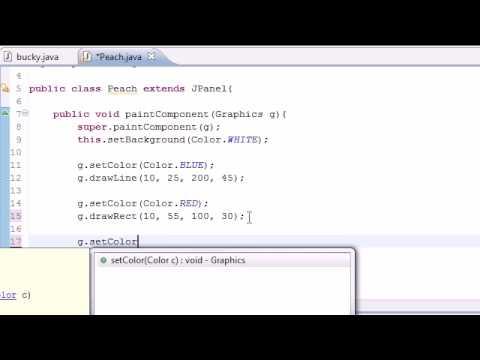 Java Programlama Eğitimi - 86 - Daha Fazla Şeyler Çizim