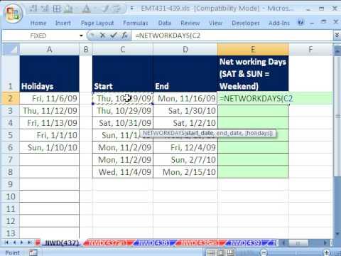 Excel Sihir Numarası 437: İş Günlerine Göre Saymak İçin Tamişgünü İşlevi