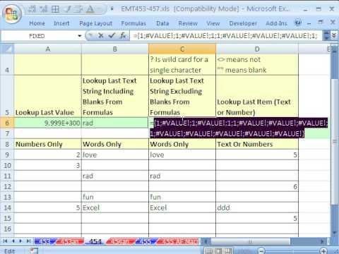 Excel Büyü Hüner 454: Almak Son Numarası Ya Da Kelime Ya Da Bir Şey 4 İnanılmaz Arama İşlevleri
