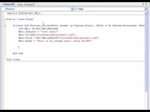 Vb.net Eğitimi 24 - (Visual Basic 2008/2010) E-Posta Gönderme