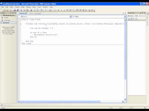 Vb.net Öğretici 21 - Koşullu İşleçler (Visual Basic 2008/2010)