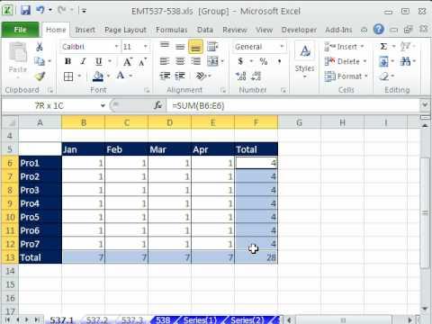 Excel Sihir Numarası 537: E-Tabloları Biçimlendirme, Formül Düzenleme--Matkap