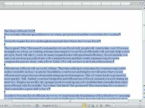 Excel Sihir Numarası 542: Özet Tablo Sayısı Nasıl Çok Bir Kelime Kez Word Belgesinde Oluşur.