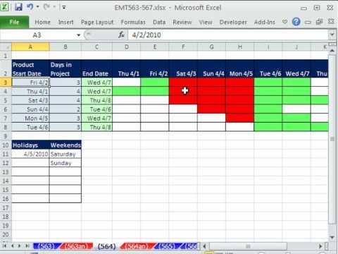 Excel Sihir Numarası 564: Günlük Gantt Grafiği