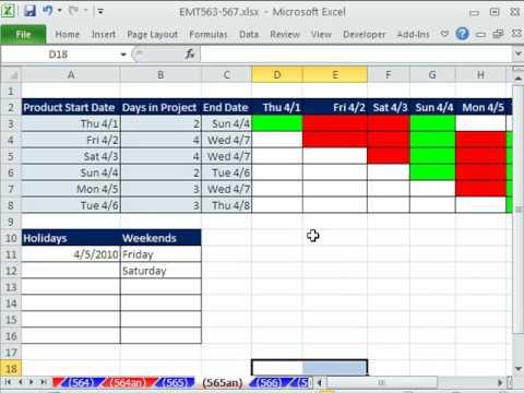 Excel Sihir Numarası 565: Excel 2010 Günlük Gantt Grafiği