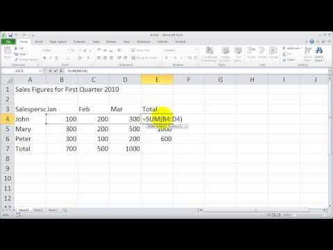 Bölüm 3 - Excel 2010 Temelleri