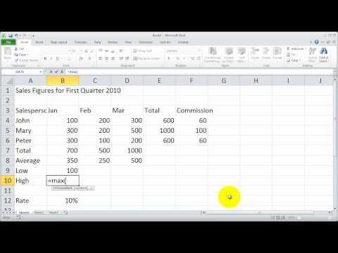 Bölüm 6 - Excel 2010 Temelleri