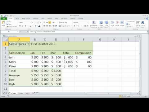 Bölüm 9 - Excel 2010 Temelleri