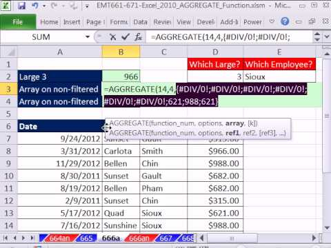 Excel 2010 Büyü Hüner 666: Toplama İşlevi Dizi Formülü #1 Tek Hücreli Dizi Formülü