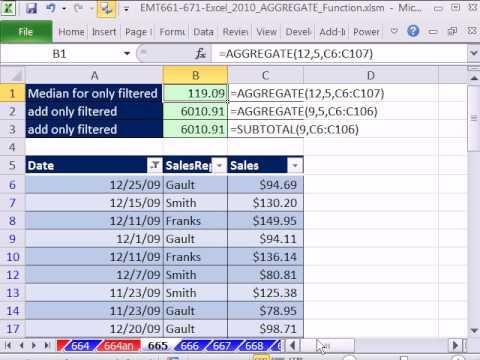 Excel 2010 Magic Trick 665: Toplama İşlevi Yok Sayar Filtre Değerleri Ne Zaman Yapım Hesaplamalar