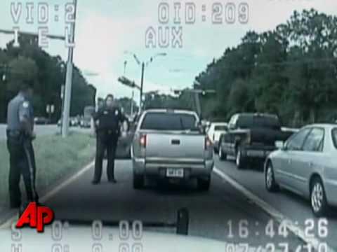 Polis Yaşlı Speeder Trafik Dur Çıkar