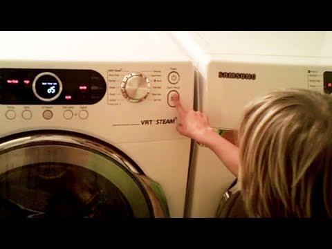 Emma Ve Jonah Onların Tots Yıka! Samsung Ön Yükleme Çamaşır Makinesi/kurutucu Hata D5