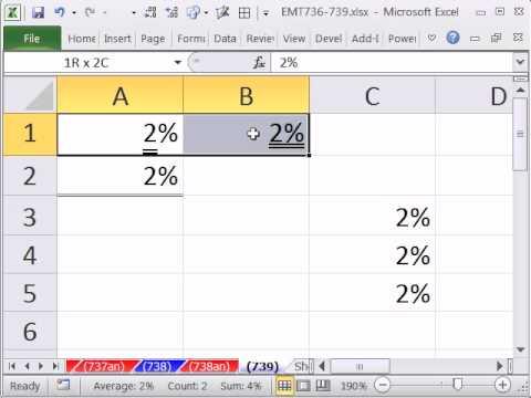 Excel Sihir Numarası 739: Üç Yolları Excel Çift Alt Çizgi