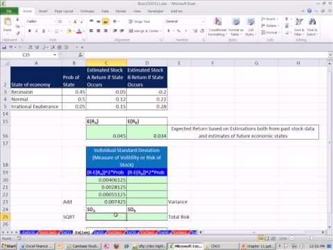 Excel Finans Sınıfını 104: Beklenen Getiri Ve Standart Sapma İçin 1 Stok Gelecek Tahmin Ediliyor...