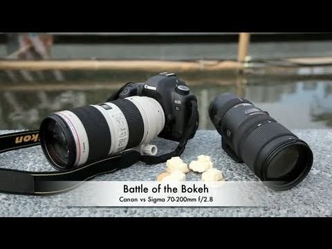 Bokeh Muharebesi: Canon 70-200Mm F / 2.8 L Is Iı Usm Vs Sigma 70-200 Mm Os Hsm