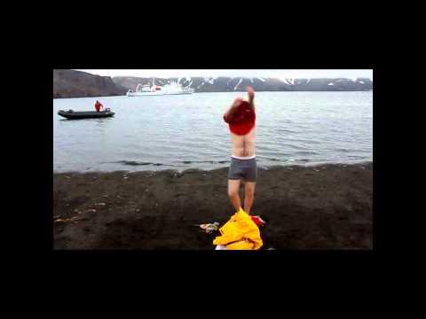 Antartika'da Yüzmeyi