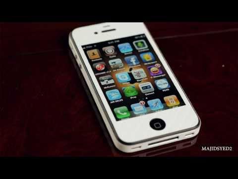 Iphone 4 Beyaz Karbon Fiber Cilt - Slickwraps.com