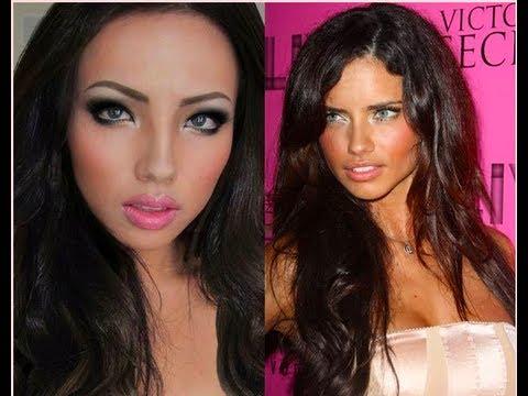 Adriana Lima Makyaj Dönüşüm!!!