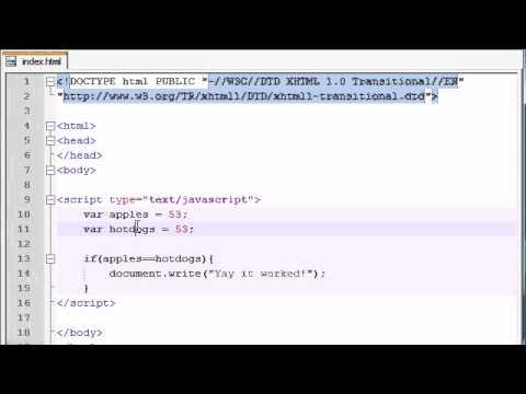 Acemi Javascript Öğretici - 14 - If Deyimi