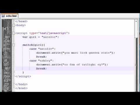 Acemi Javascript Öğretici - 18 - Anahtarı