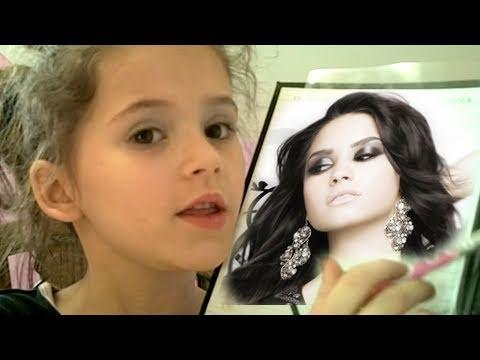 Demi Lovato Makyaj Eğitimi Emma, Yaş 7, Çocuklar İçin