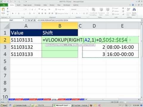 Excel Büyü Hüner 773: Düşeyara Kimliği Kodu Ve Numarası Metni Dönüştürme Numarasını Arama Son Karakter İçin