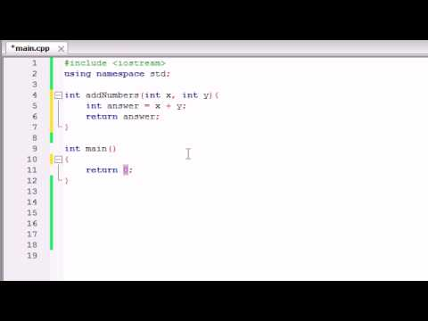 Buckys C++ Programlama Birden Çok Parametre Kullanmak Tutorials - 11 - İşlevleri